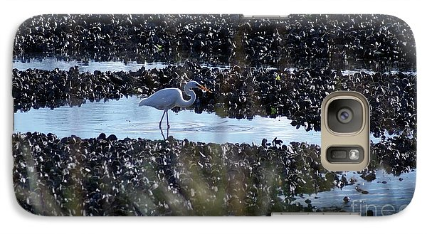 Galaxy Case featuring the photograph Egret In The Marsh by Margie Avellino