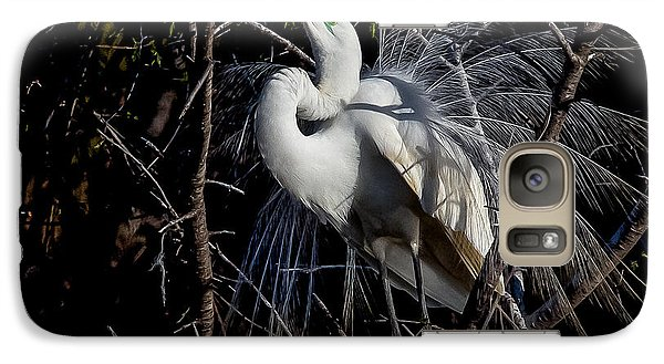Galaxy Case featuring the photograph Elegant Egret by Kelly Marquardt