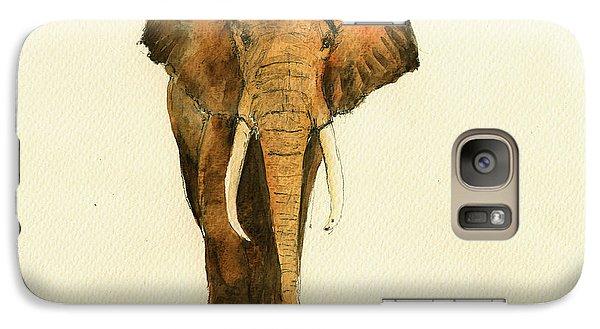 Elephant Watercolor Galaxy S7 Case by Juan  Bosco
