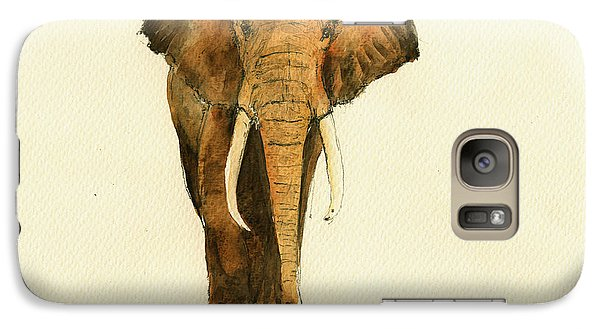 Elephant Watercolor Galaxy S7 Case by Juan  Bosco