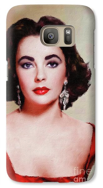 Elizabeth Taylor Hollywood Actress Galaxy S7 Case