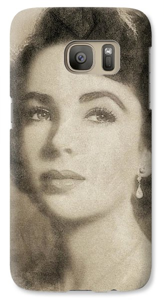 Elizabeth Taylor, Vintage Hollywood Legend By John Springfield Galaxy S7 Case