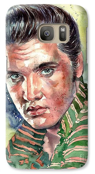 Elvis Presley Galaxy S7 Case - Elvis Presley Portrait by Suzann's Art