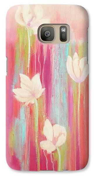 Galaxy Case featuring the painting Simplicity 2 by Irene Hurdle