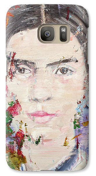 Galaxy Case featuring the painting Emily Dickinson - Oil Portrait by Fabrizio Cassetta