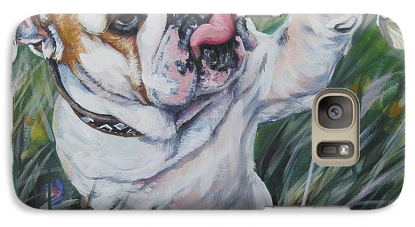 English Bulldog Galaxy Case by Lee Ann Shepard