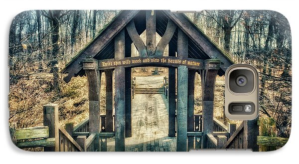Galaxy Case featuring the photograph Entrance To Seven Bridges - Grant Park - South Milwaukee #3 by Jennifer Rondinelli Reilly - Fine Art Photography