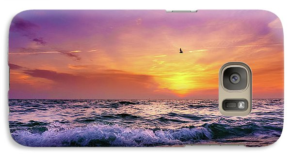 Galaxy Case featuring the photograph Evening Flight by Dmytro Korol
