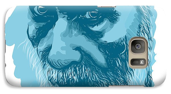 Galaxy Case featuring the drawing Eyes by Antonio Romero