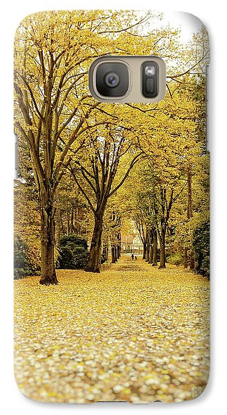 Galaxy Case featuring the photograph Carpet Of Golden Leaves by Ivy Ho