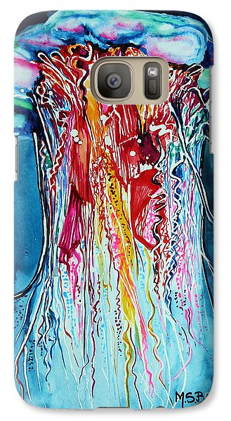 Galaxy Case featuring the painting Fantasia by Maria Barry