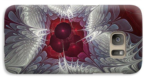 Galaxy Case featuring the digital art Festive Star by Karin Kuhlmann