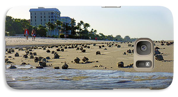 Galaxy Case featuring the photograph Fighting Conchs At Lowdermilk Park Beach In Naples, Fl by Robb Stan