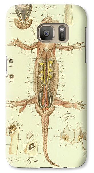 Galaxy Case featuring the drawing Fire Salamander Anatomy by Christian Leopold Mueller