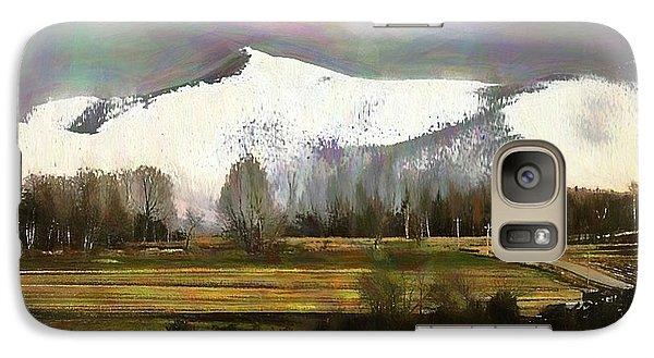 Galaxy Case featuring the digital art First Snow by John Selmer Sr
