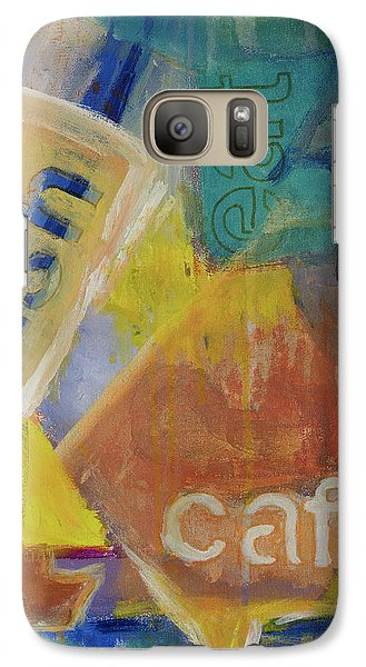 Galaxy Case featuring the painting Fish Cafe by Susan Stone