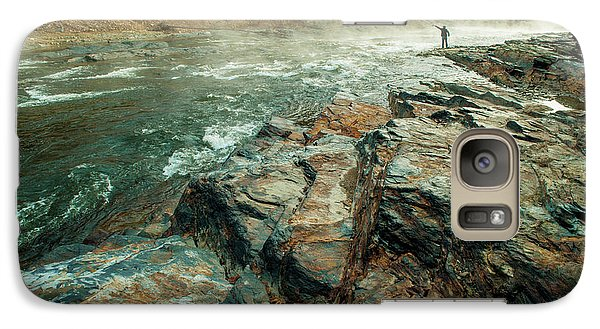 Galaxy Case featuring the photograph Fishing Day by Iris Greenwell