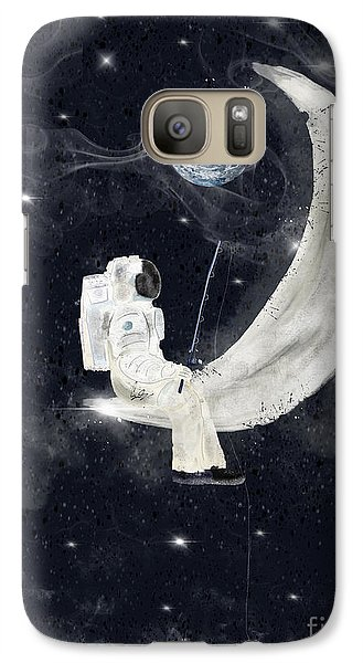 Galaxy Case featuring the painting Fishing For Stars by Bri B