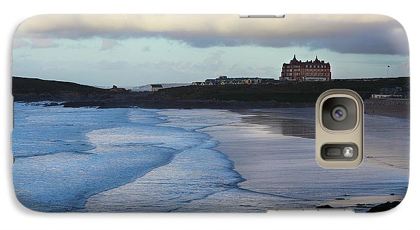 Galaxy Case featuring the photograph Fistral Beach by Nicholas Burningham