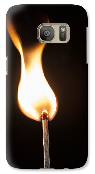 Galaxy Case featuring the photograph Flame by Tyson and Kathy Smith