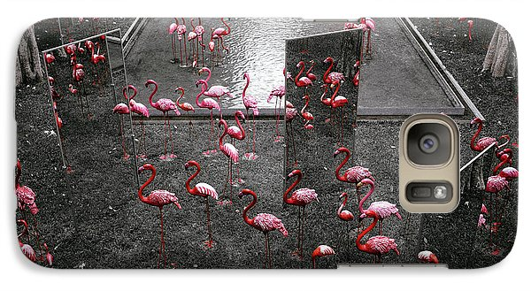 Galaxy Case featuring the photograph Flamingo by Setsiri Silapasuwanchai