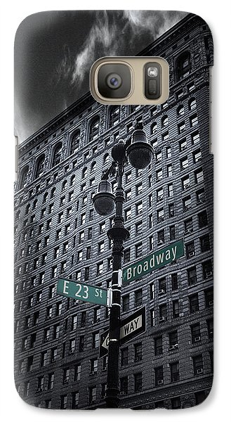 Galaxy Case featuring the photograph Flatiron Noir by Jessica Jenney