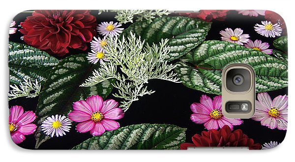 Galaxy Case featuring the photograph Floating Flower Bouquet by Byron Varvarigos