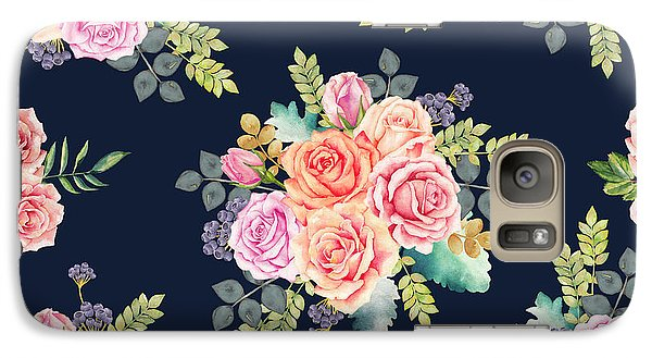 Floral Pattern 1 Galaxy Case by Stanley Wong