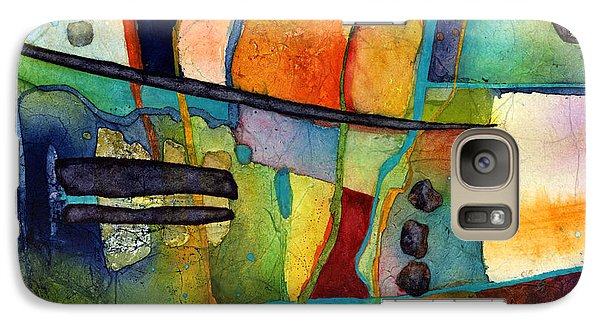 Galaxy Case featuring the painting Fluvial  Mosaic by Hailey E Herrera