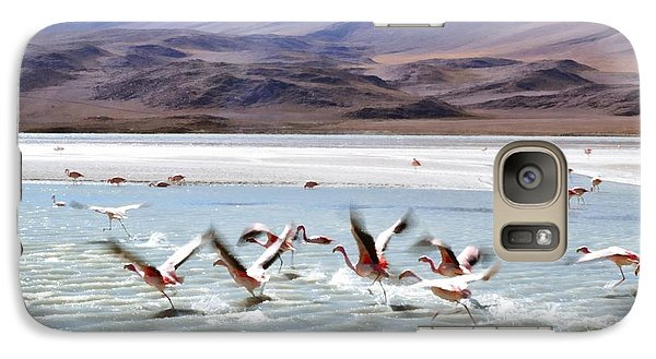 Flying Flamingos Galaxy S7 Case by Sandy Taylor