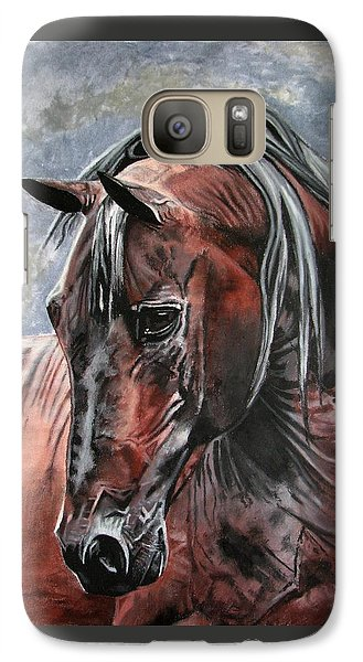 Galaxy Case featuring the painting Forever by Melita Safran