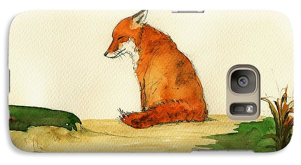 Fox Sleeping Painting Galaxy S7 Case