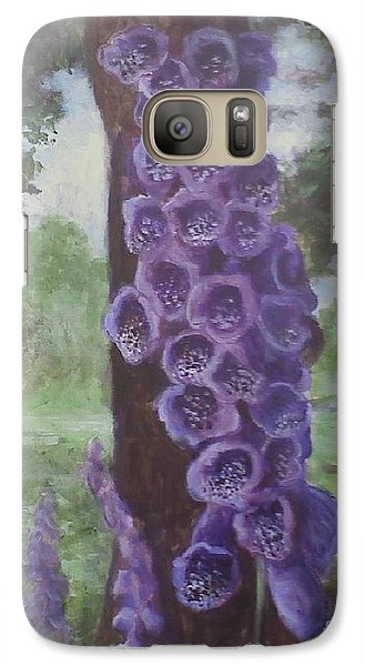 Galaxy Case featuring the painting Foxglove by Randol Burns
