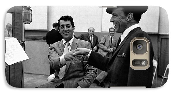 Frank Sinatra And Dean Martin At Capitol Records Studios 1958. Galaxy Case by The Titanic Project
