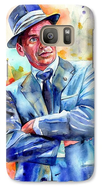 Fairy Galaxy S7 Case - Frank Sinatra Young Painting by Suzann's Art