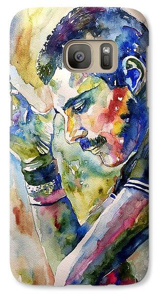 Realistic Galaxy S7 Case - Freddie Mercury Watercolor by Suzann Sines