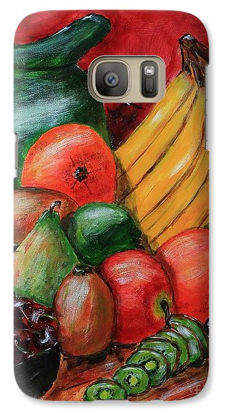 Galaxy Case featuring the painting Fruit And Pitcher by Melvin Turner