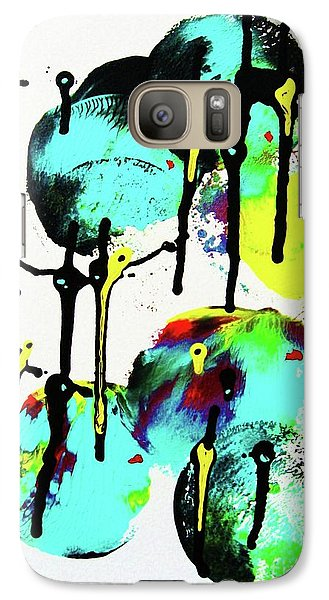 Galaxy Case featuring the painting Fugu Ni by Roberto Prusso
