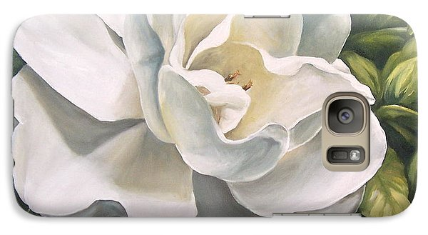 Galaxy Case featuring the painting Gardenia by Natalia Tejera