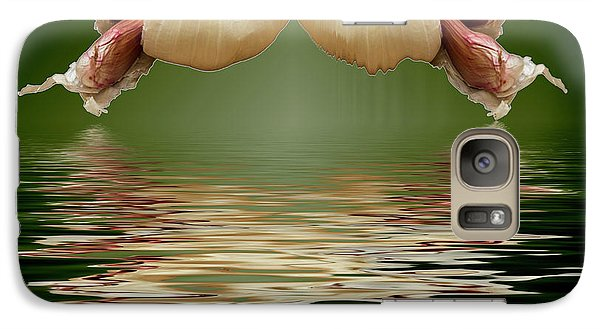 Galaxy Case featuring the photograph Garlic Cloves Of Garlic by David French