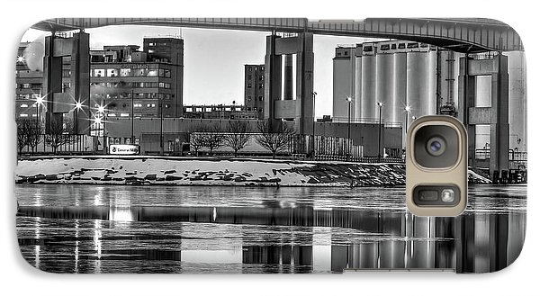 Galaxy Case featuring the photograph General Mills From The River by Don Nieman
