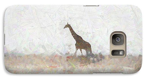 Galaxy Case featuring the digital art Giraffe Abstract by Ernie Echols