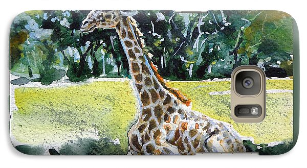 Galaxy Case featuring the painting Giraffe by Kovacs Anna Brigitta