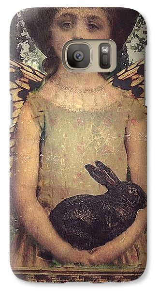 Galaxy Case featuring the digital art Girl In The Garden by Alexis Rotella
