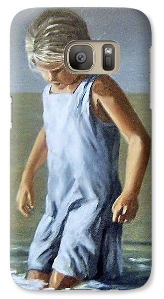 Galaxy Case featuring the painting Girl by Natalia Tejera