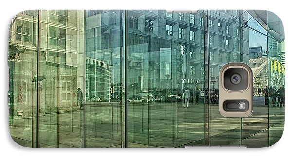 Galaxy Case featuring the photograph Glass Panels At Le Grande Arche by Patricia Hofmeester
