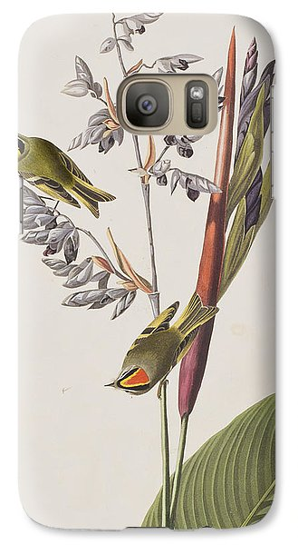 Golden-crested Wren Galaxy S7 Case by John James Audubon