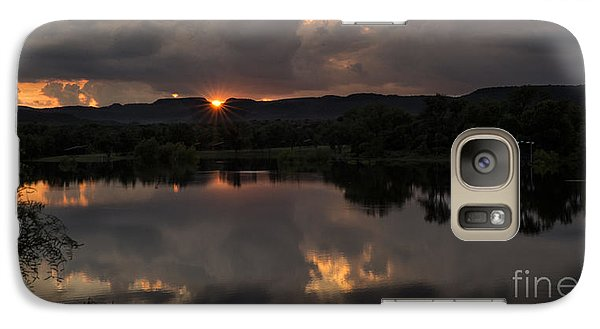 Galaxy Case featuring the photograph Golden Sunset by Melany Sarafis