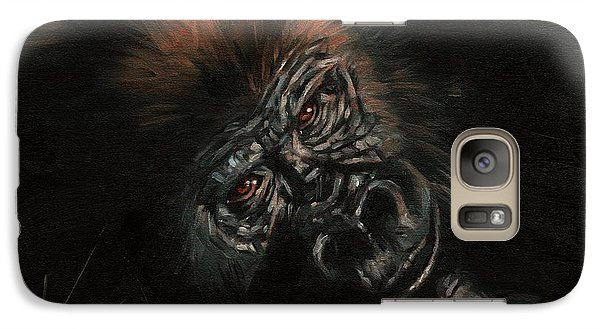 Gorilla Galaxy S7 Case - Gorilla by David Stribbling