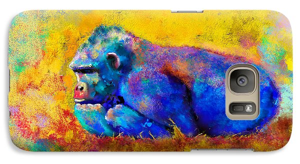 Gorilla Galaxy S7 Case - Gorilla Gorilla by Betty LaRue